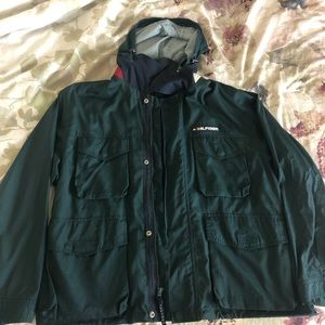 Green Tommy Hilfiger raincoat